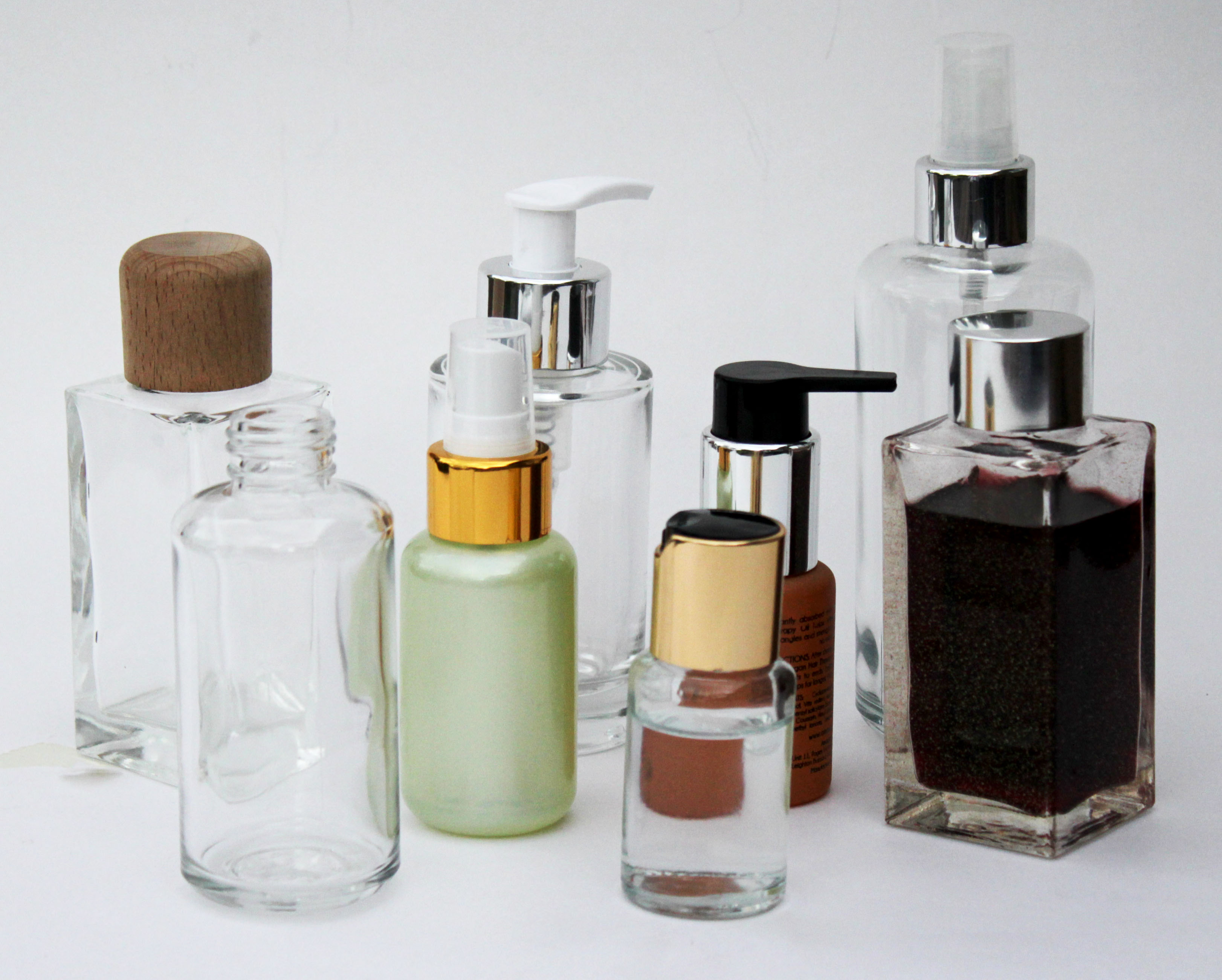 Glass Cosmetic Bottle