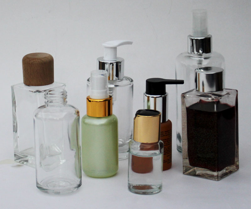 Coloured Cosmetic Bottles